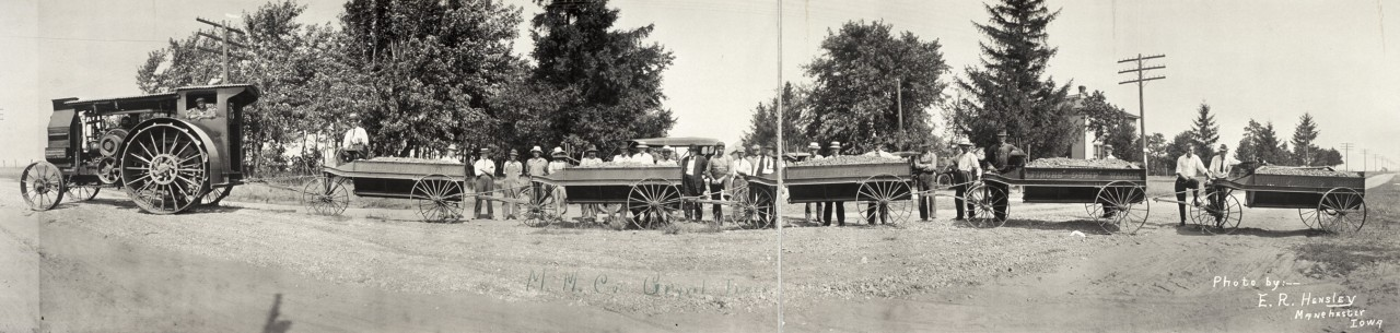 Train de gravier - 1913