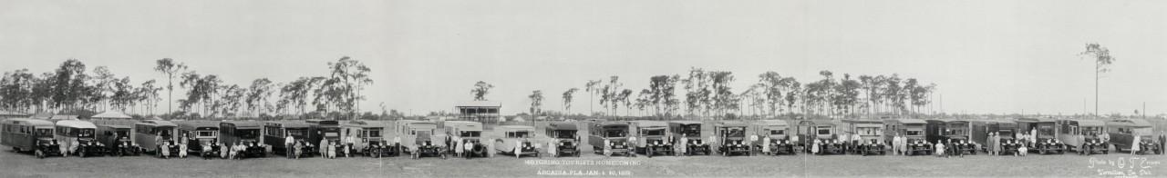 Retour de caravanistes à Arcadia - 1932