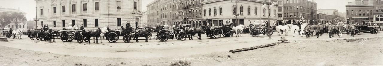Parade des pompiers de Portland, Maine - 1920