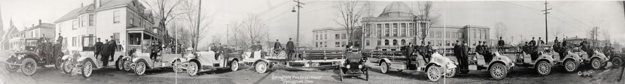 Les pompiers de Springfield, Ohio - 1917