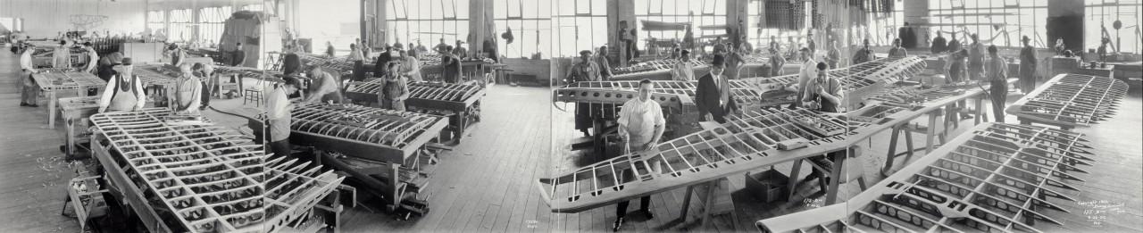 La pièce de fabrication des ailes de Boeing - 1922