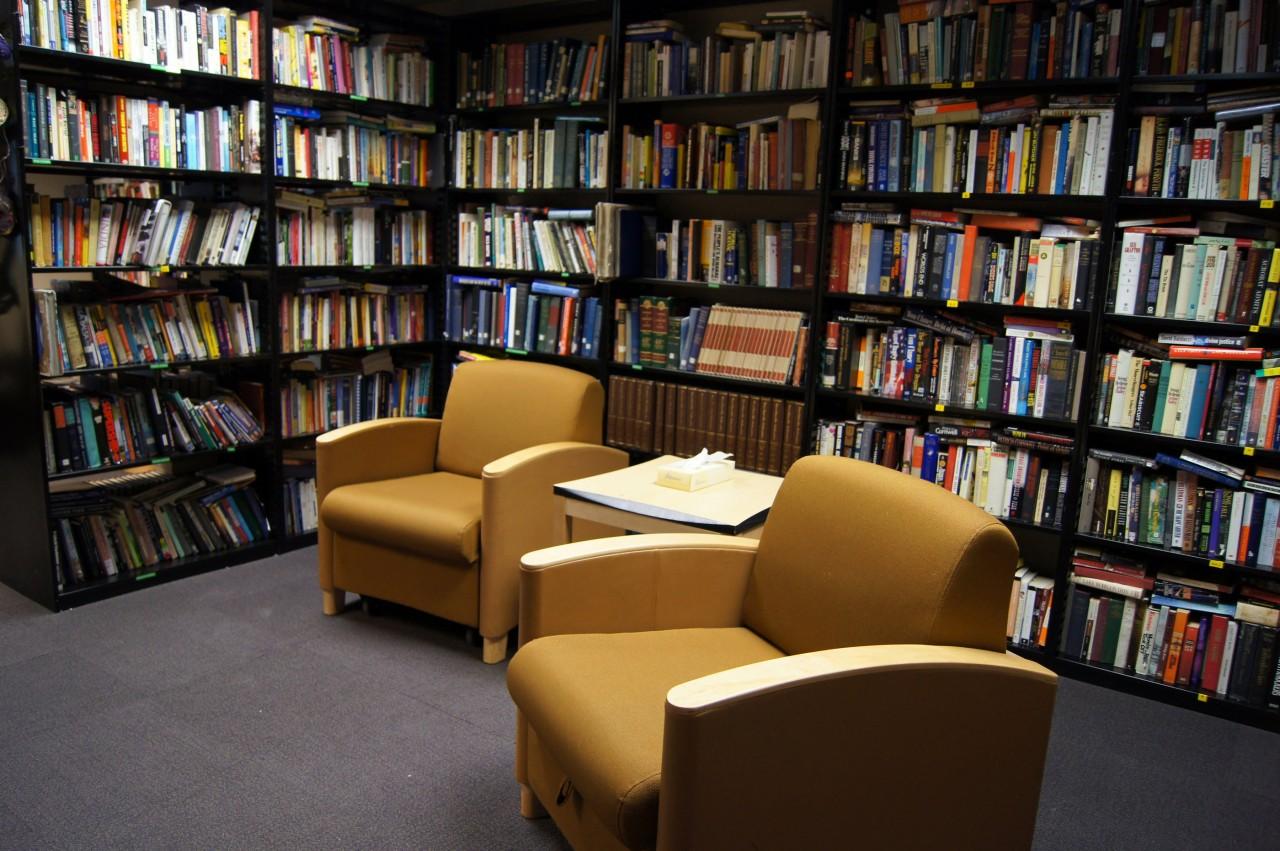 La bibliothèque Ruth Stiple sur la base d'Amundsen-Scott