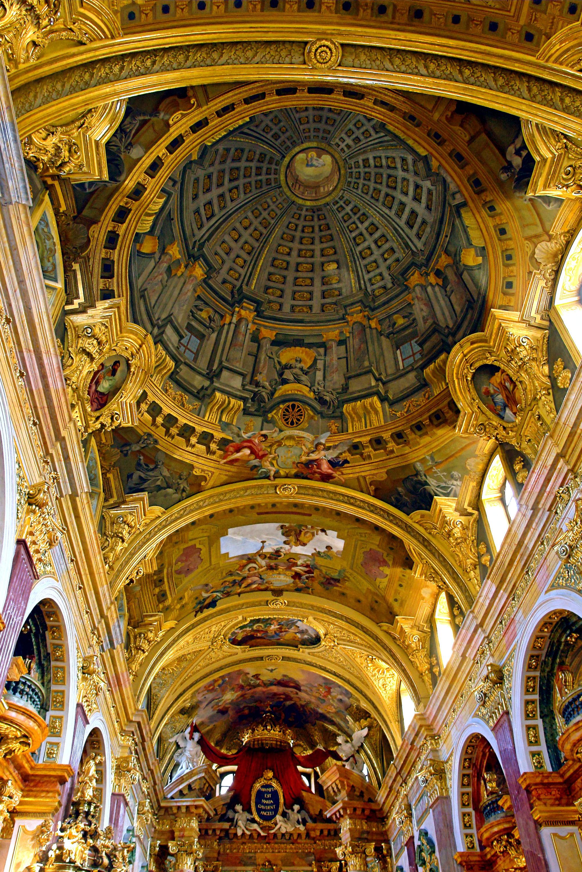 Jesuit Church Vienna Fresco With Trompe L Oeil Andrea Pozzo