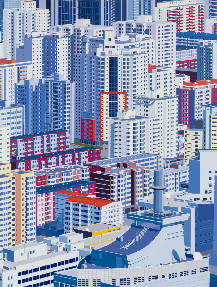 """""""Beijing"""", Large painting by Daniel Rich"""