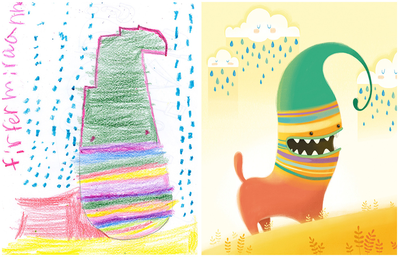 Dessin enfant artiste 03 la boite verte for Artiste dessin