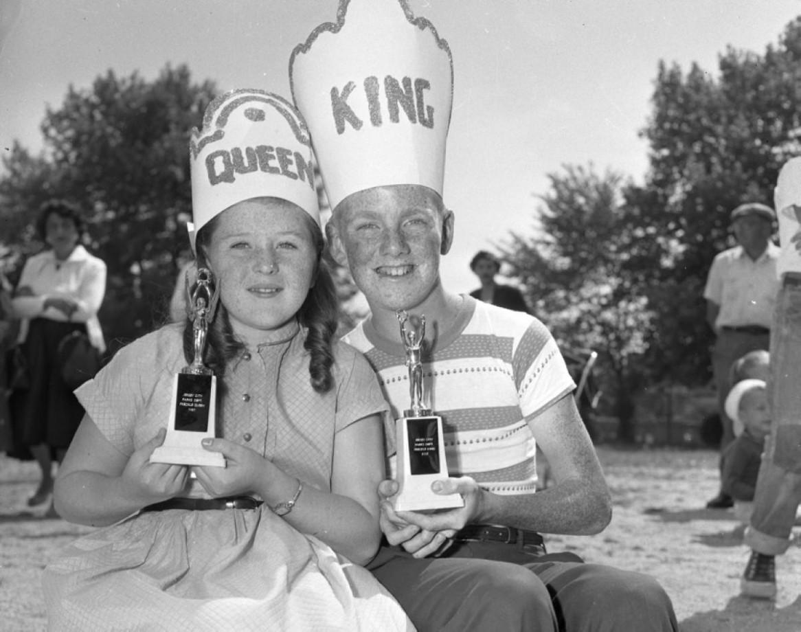 Le roi et la reine des tâches de rousseur 1957