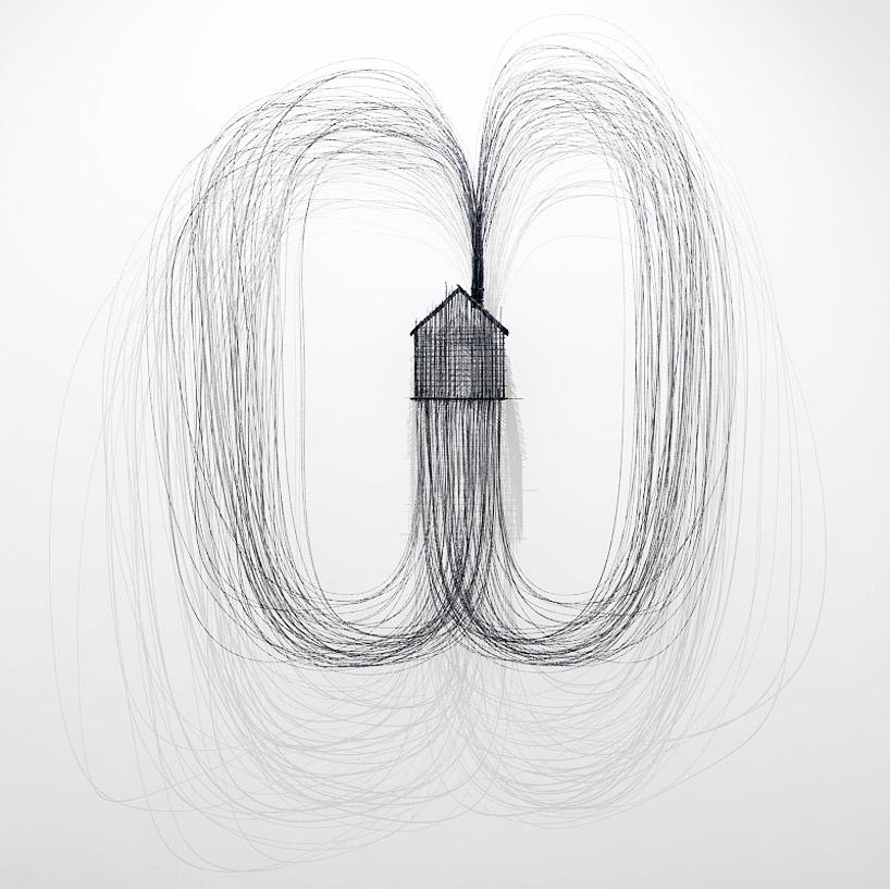 Des dessins en trois dimensions avec des fils de fer for Artiste dessin