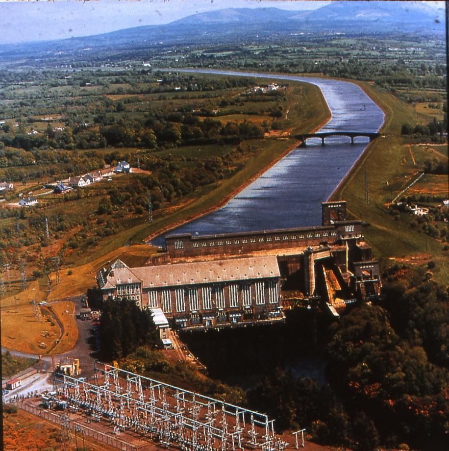 Vue aérienne du barrage