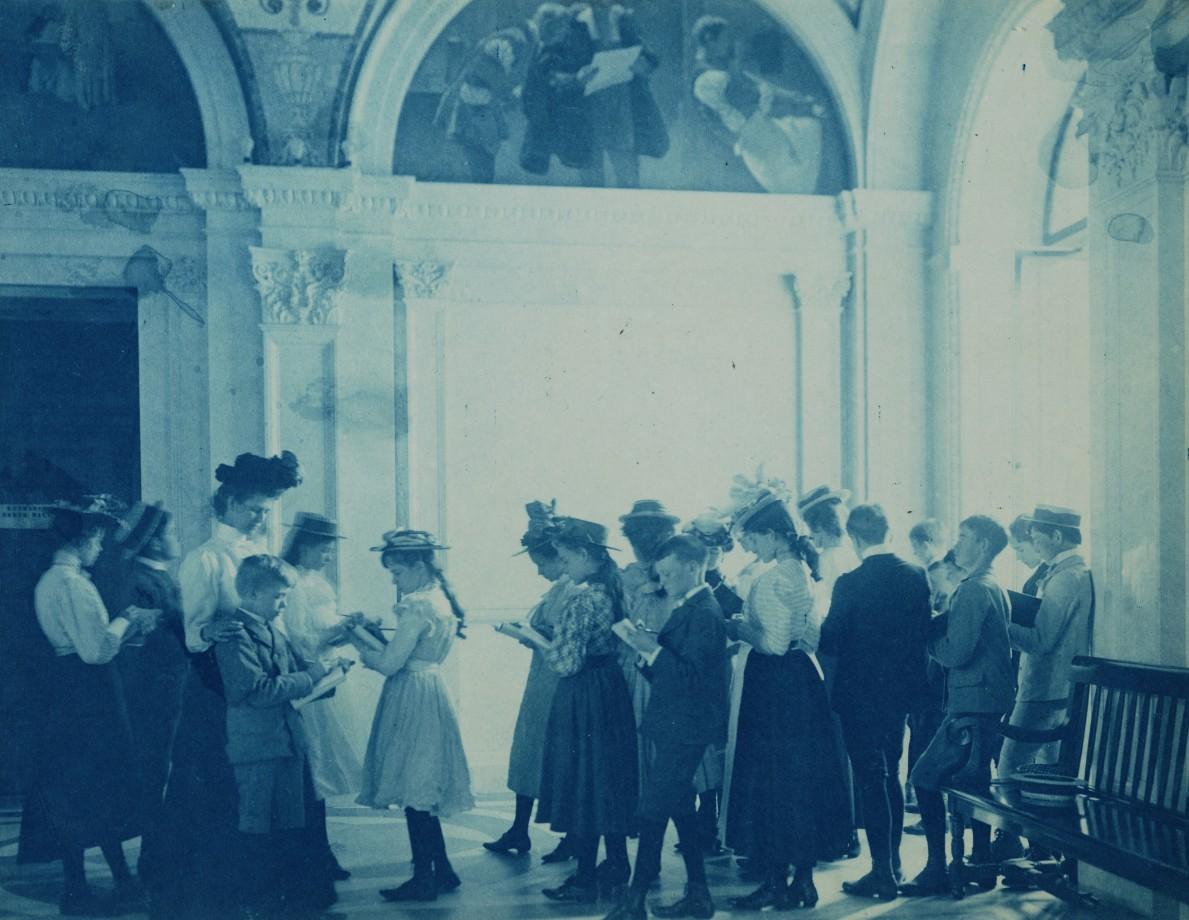 Une sortie scolaire à la Librairie du Congrès - 1899