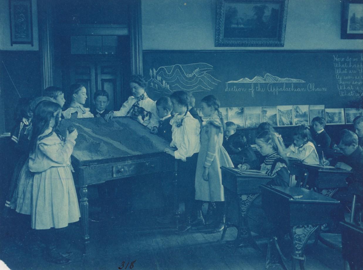 Une classe de géologie dans une école publique de Washington
