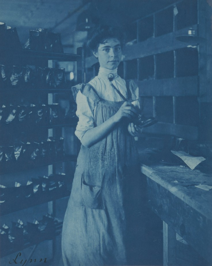 Une usine de chaussure, Massachusetts - 1895