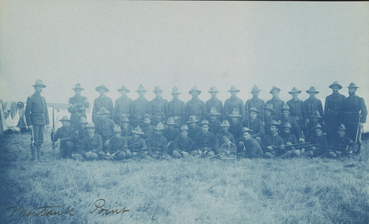 Photo de groupe du régiment de Théodore Roosevelt