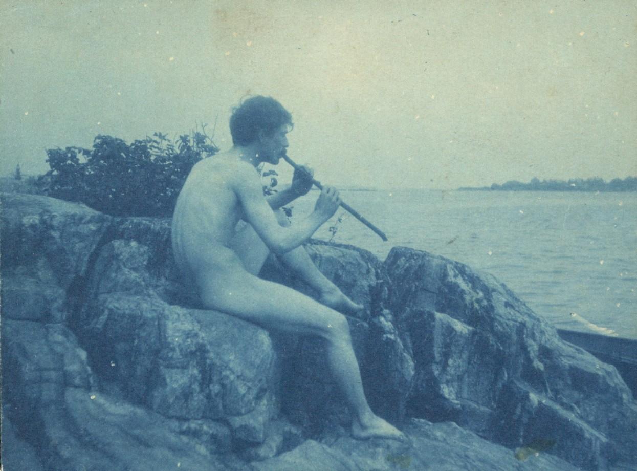 Nu masculin qui joue de la flûte - 1891