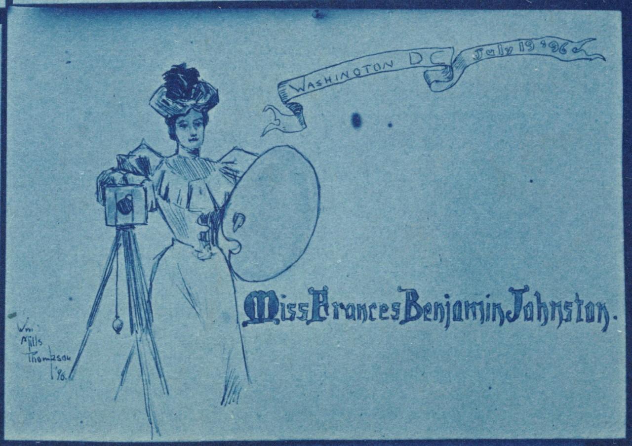 Une reproduction d'une carte de visite de Frances Benjamin Johnston