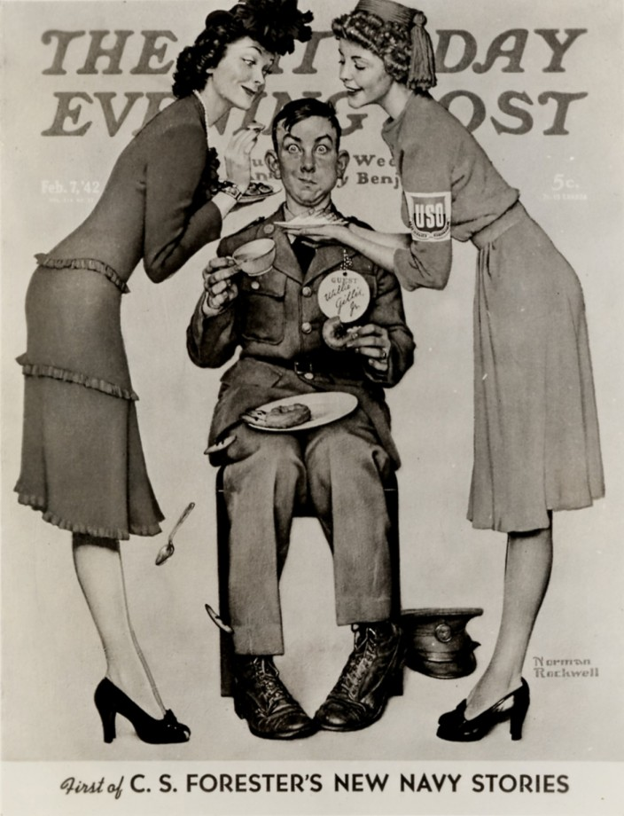 Une couverture du Saturday Evening Post par Norman Rockwell