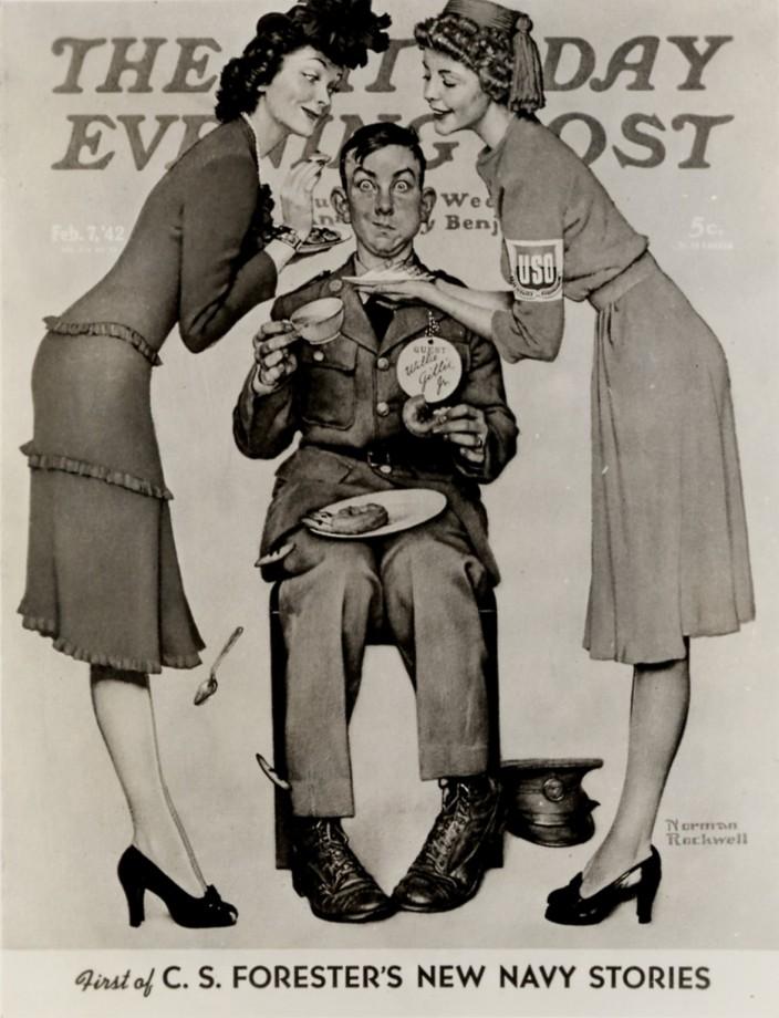 Une couverture du Saturday Evening Post par Norman Rockwell