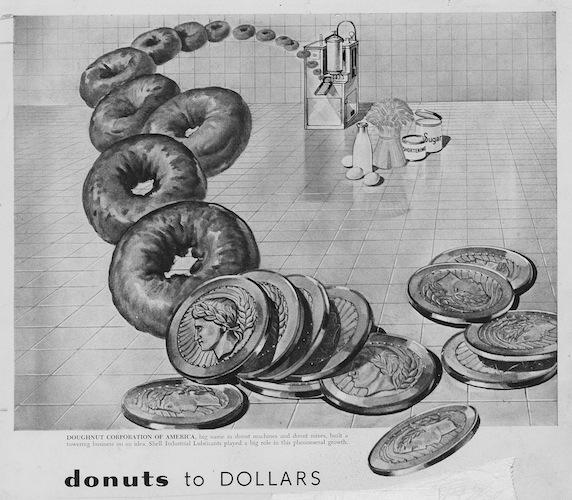 Dès la fin de la Première Guerre Mondiale avec une accélération après la Seconde on présente le donuts comme une opportunité d'enrichissement
