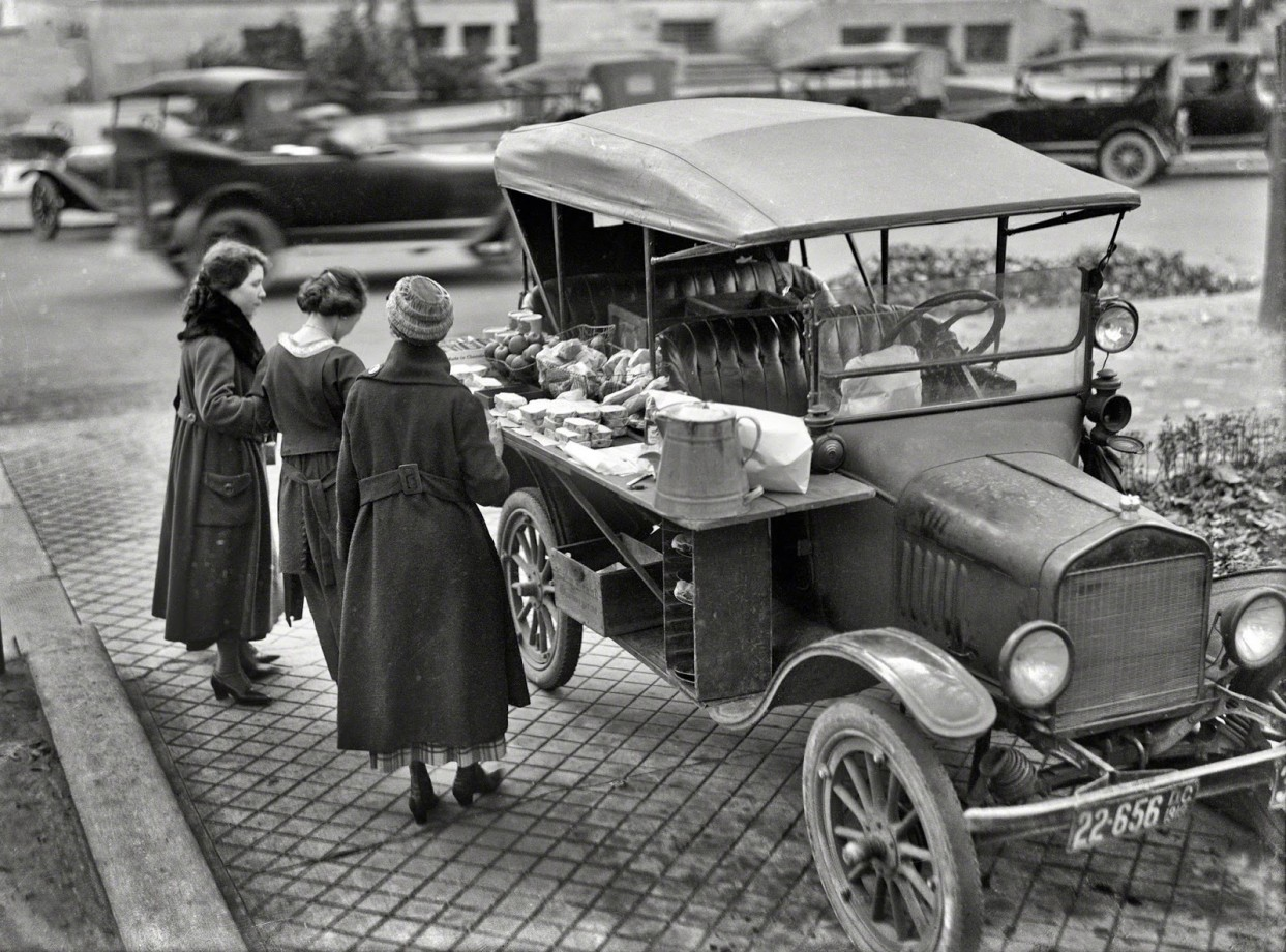 Un food truck, Washington DC - 1919