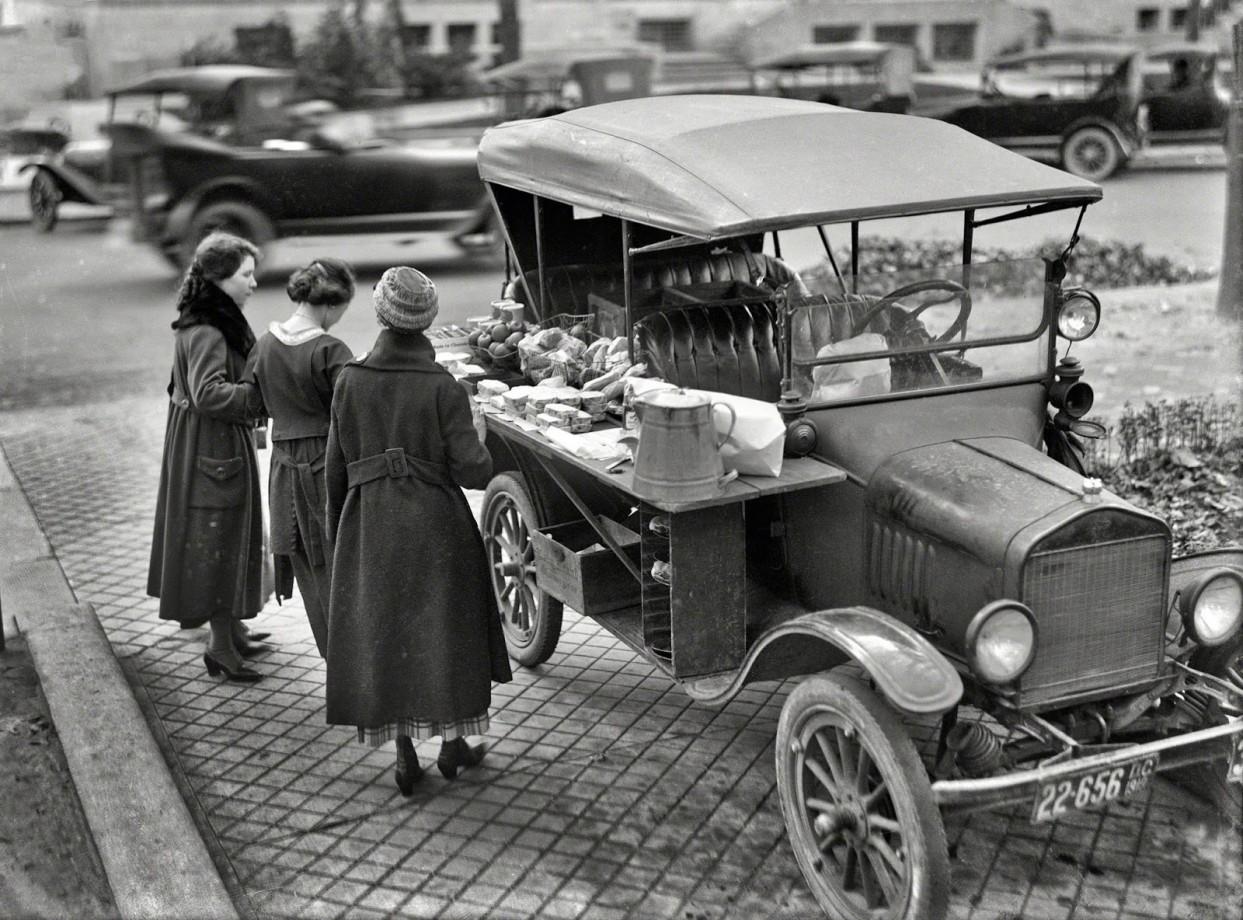 Un food truck, Washington DC - 1919