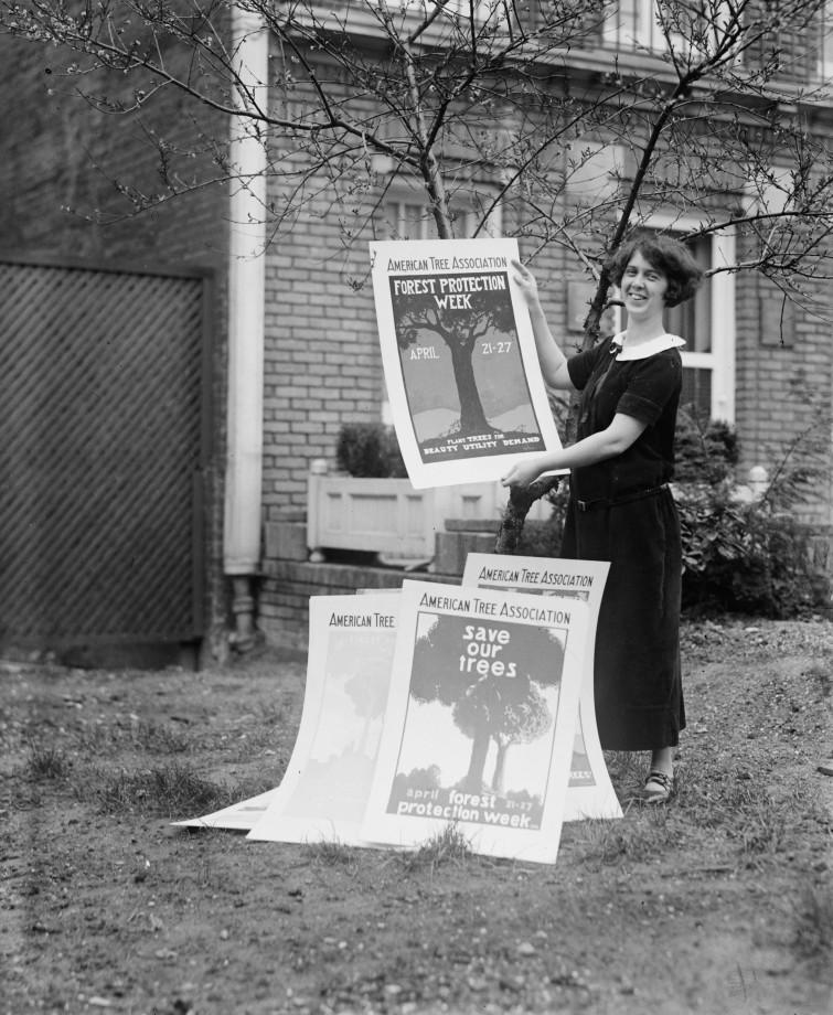 Une militante écolo, USA - ~1920