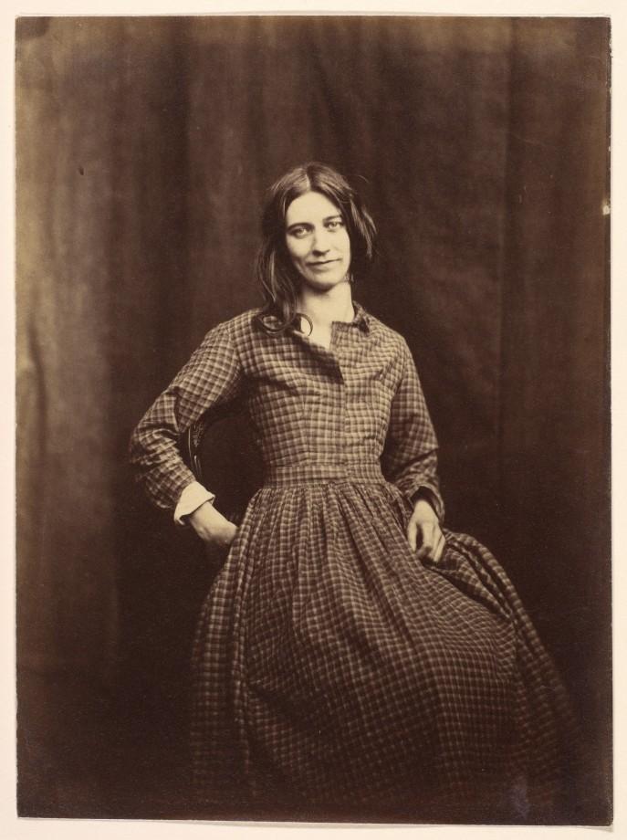 Portrait de Hugh Welch Diamond, patiente du Surrey County Lunatic Asylum - 1850