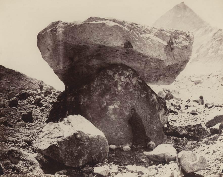 Un rocher sur un piédestal de glace, Tibet - 1864 - Philip Henry Egerton