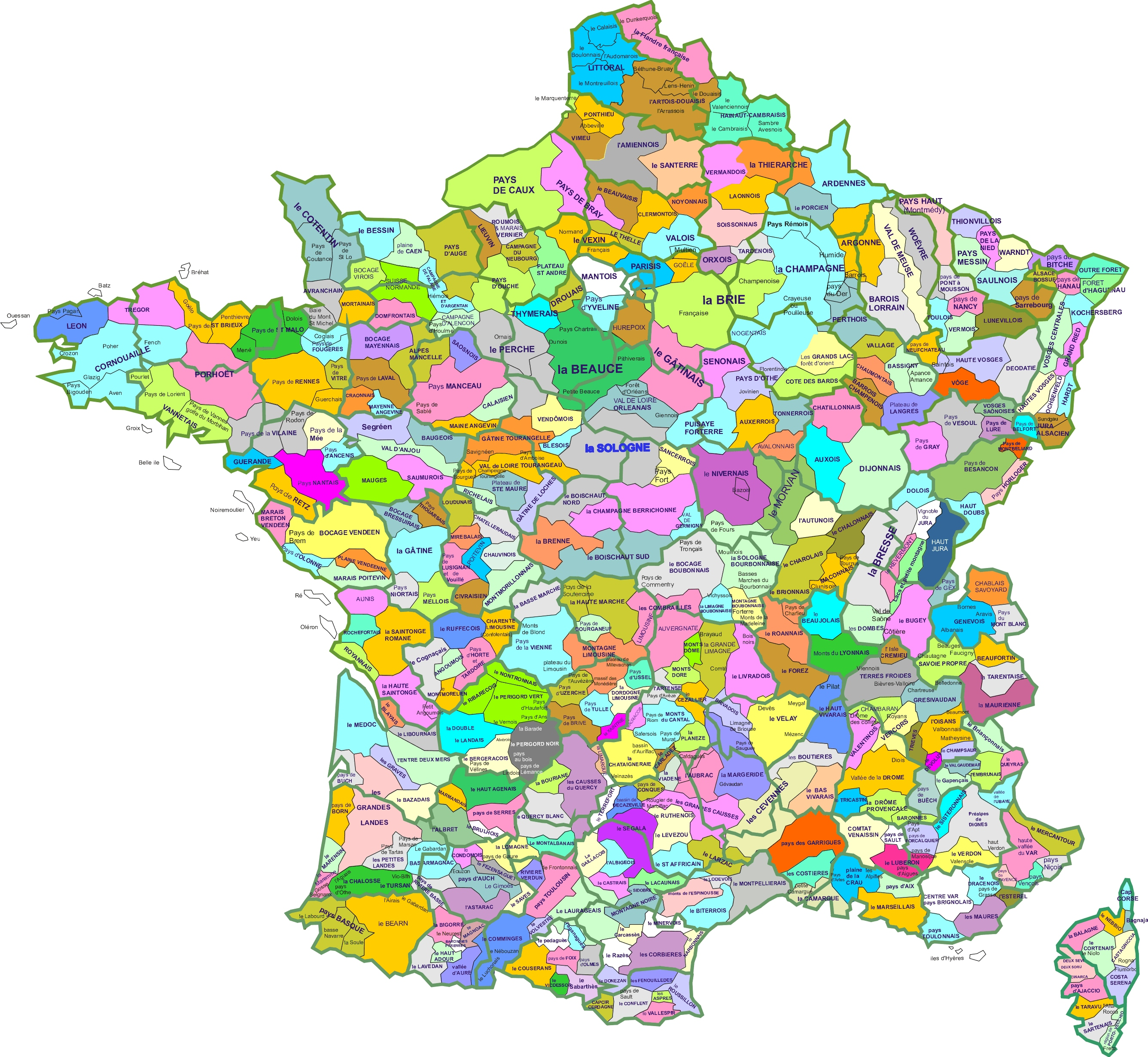 carte region naturelle france. (Image JPEG, 2673 × 2460 pixels