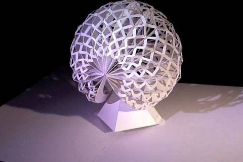 Des sculptures Pop-Up en papier