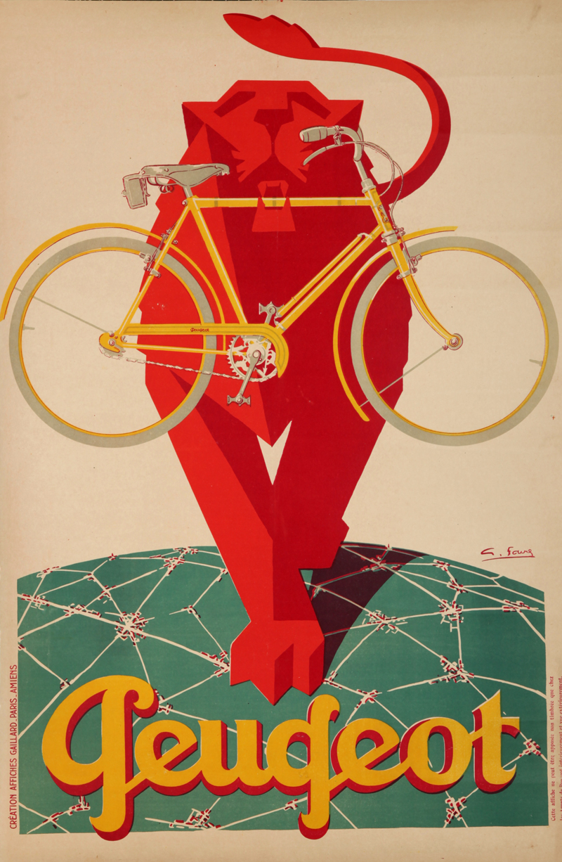 velo cycle publicite affiche poster ancien 01 la boite verte. Black Bedroom Furniture Sets. Home Design Ideas