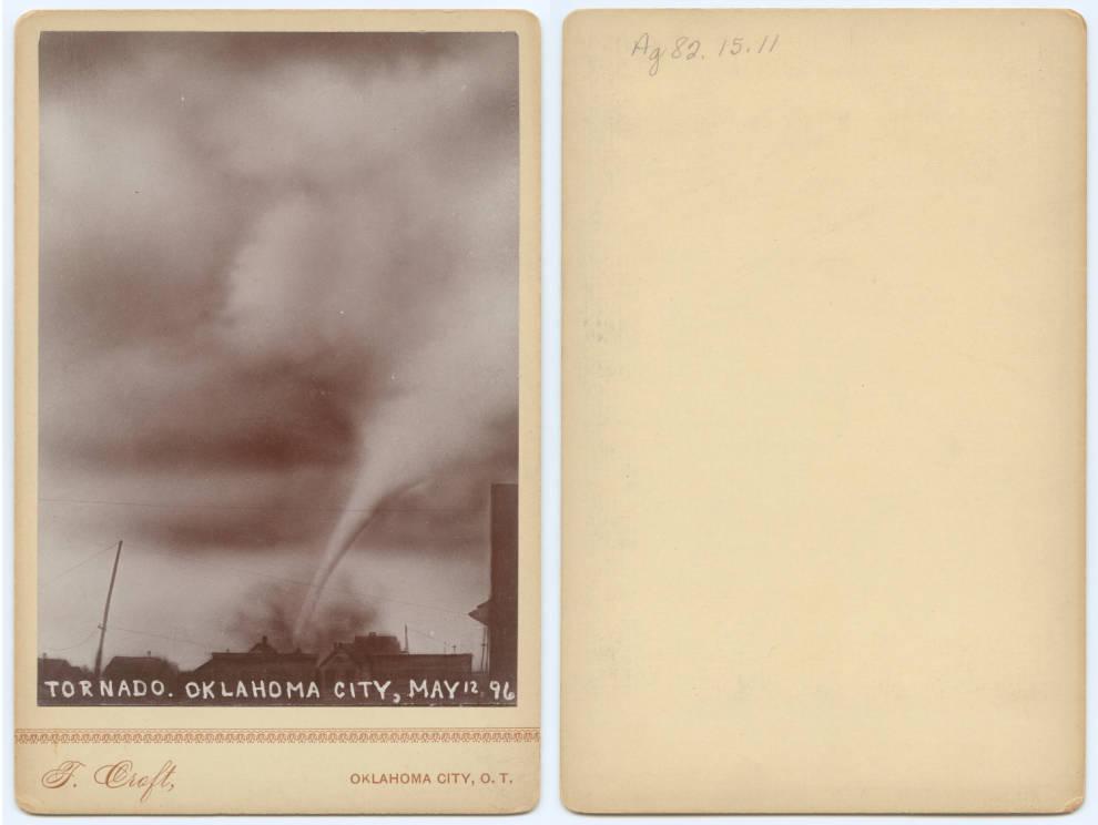 Une tornade par Thomas Croft à Oklahoma City en 1896