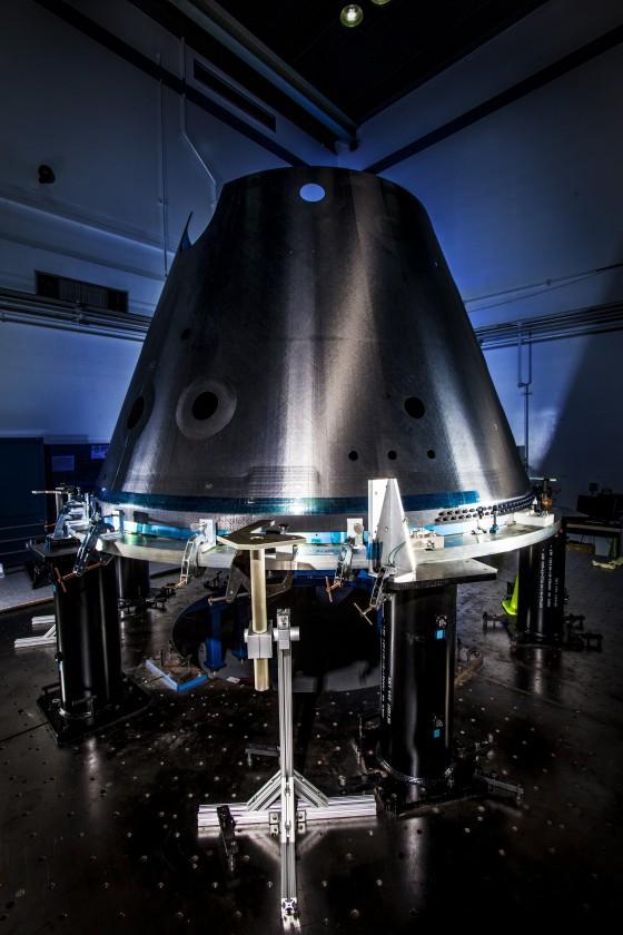 Le cône qui va contenir une partie du télescope