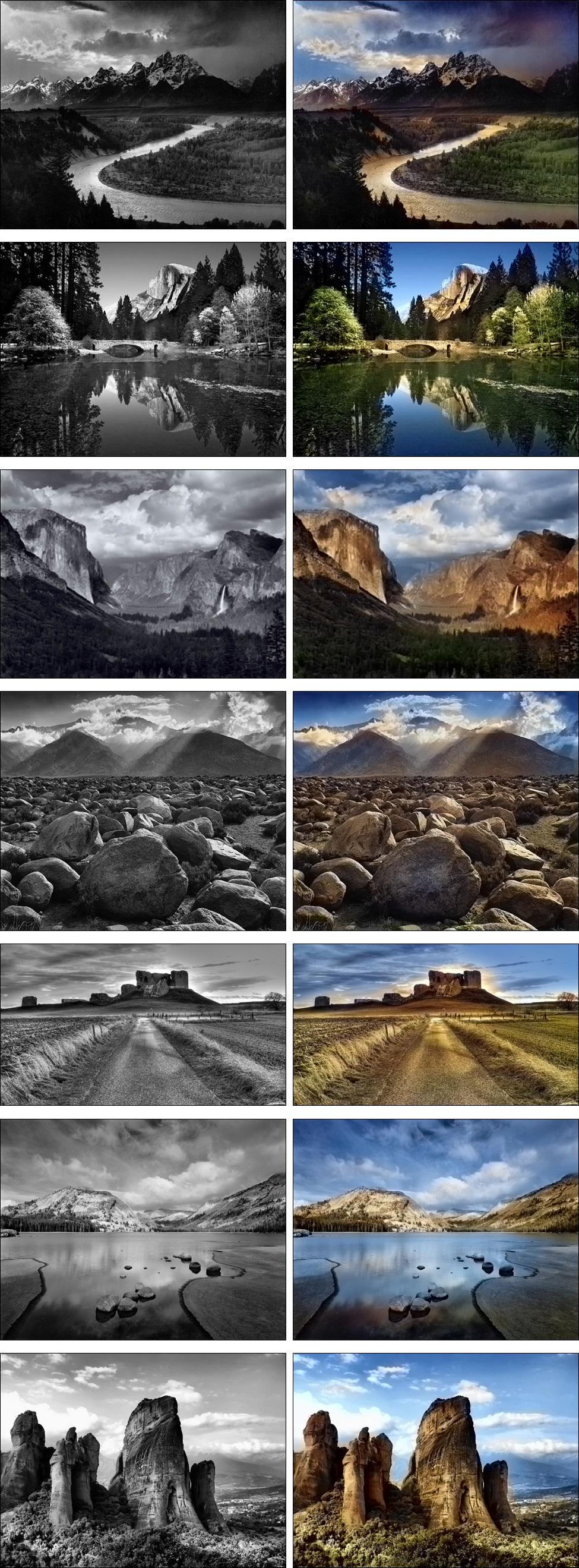 La colorisation automatique des photos en noir et blanc par un ordinateur