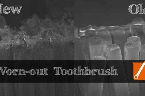 Comment une brosse à dent s'use