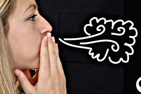 Créez un nuage dans votre bouche
