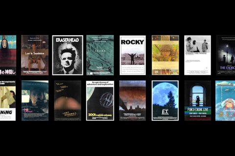 Des affiches de film animées avec leur scène