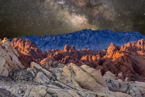 Des strates temporelles de désert mélangées