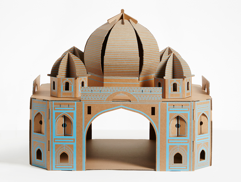 flatpack-cardboard-cat-houses-architectural-landmarks-designboom-03