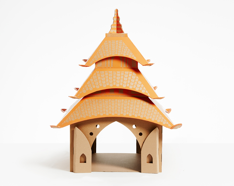 flatpack-cardboard-cat-houses-architectural-landmarks-designboom-07