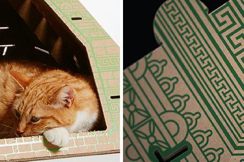 flatpack-cardboard-cat-houses-architectural-landmarks-designboom-12