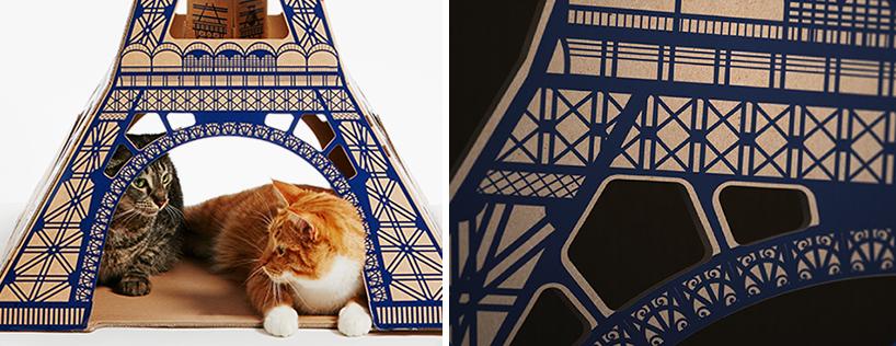 flatpack-cardboard-cat-houses-architectural-landmarks-designboom-14