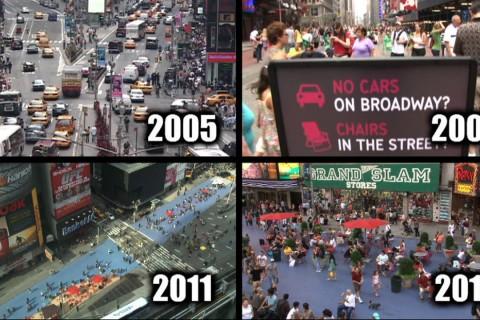 L'évolution des rues de New York