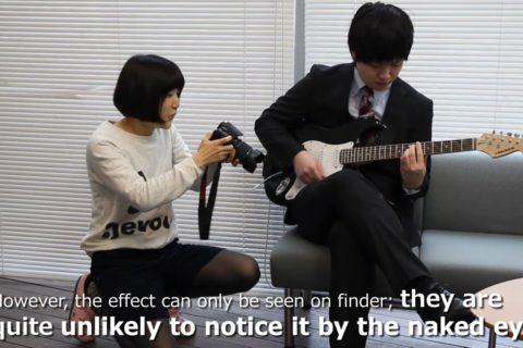 Regardez des cordes de guitare vibrer à l'oeil nu
