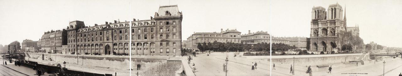 Notre-Dame et Préfecture de Police, Paris - 1909
