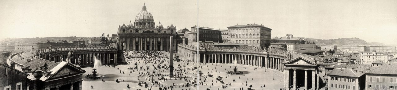 Place Saint-Pierre, Rome - 1909