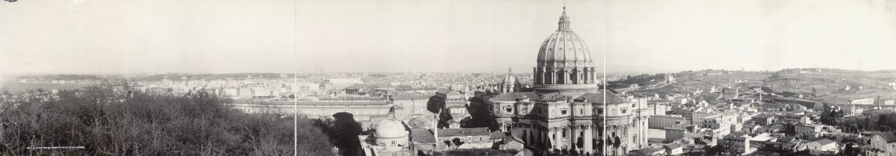 Vue depuis l'Observatoire du Vatican, Rome - 1909