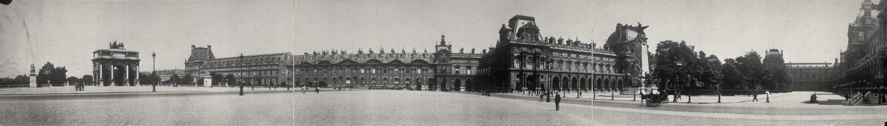 Le Louvre, Paris - 1908