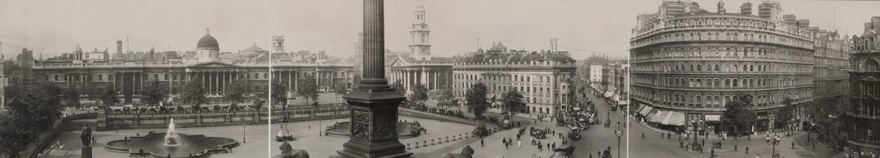 Trafalgar Square, Londres - 1908