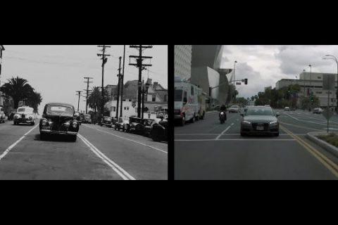 Le Los Angeles de 1940 et celui d'aujourd'hui côte à côte