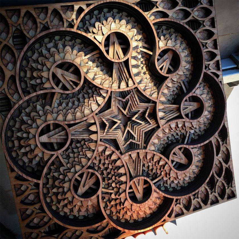 Du relief dans des sculptures en strates de bois d coup for Art et decoration pdf
