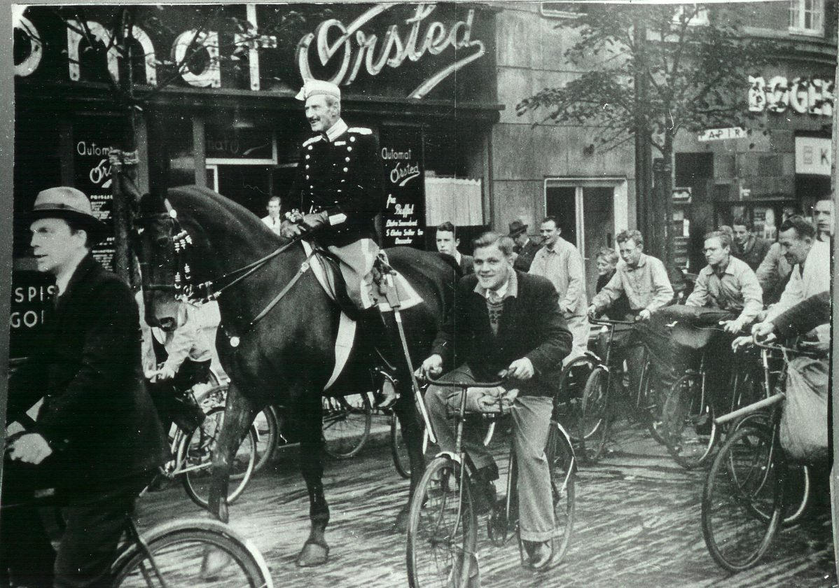 King Christian X of Denmark, on his unaccompanied daily ride through the Nazi-occupied streets of Copenhagen during WWII
